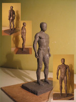 """Ideal"" Man  (sculptural plasticine, 2005)"