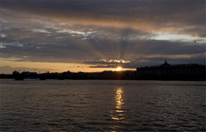 Sunset in Saint Petersburg