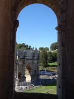 Arch of Konstantin Through Arch of Colosseum
