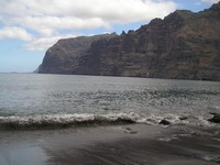 Beach at Los Gigantes Rocks