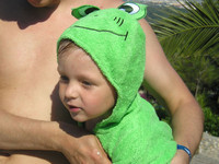 Daddy's Little Frog  © My wife Yulia