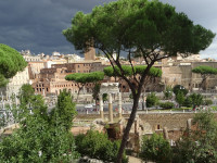 Gloomy Sky over Ancient Rome