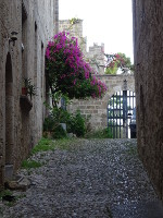 Narrow Street of Rhodes Fortress