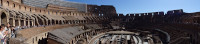 Panorama of the Colosseum Inside