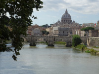 Tiber and Saint Peter's Basilica