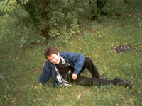 2000.10.dd Almost lying in the grass at the VlSU