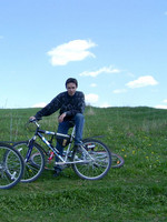 2003.05.15 Having a bicycle ride to the Sodyshka