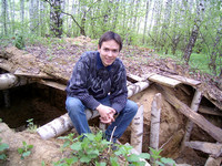 2003.05.15 At the forgotten dug-out in a birch forest