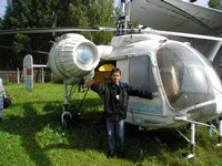 2004.08.15 At Ka-26 helicopter in the Central Museum of Russian Air Forces.