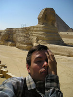 2006.07.27 Tired from the Egyptian sun, with the Sphinx in the backround.