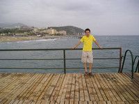 2010.06.02 Standing on the hotel's pier, with the Mediterranean Sea in the background