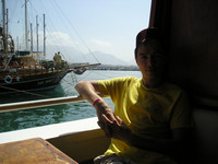 2010.06.04 On the first deck of a boat ready to sail from Alanya's port (Turkey).