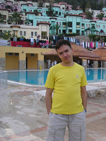 2011.06.21 In the first day of summer vacation in Turkey, at a pool of a mountain hotel
