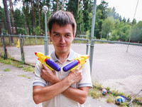 2012.07.13 Armed (with water guns) and extremely dangerous :-) while celebration the Company Day