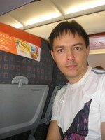 2014.04.08 In an Airbus A320 aircraft of EasyJet airline carrier, flying to London