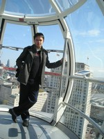2014.04.11 London. In an egg-style passenger capsule of the London Eye ferris wheel