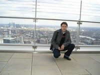 2014.04.11 London. On a terrace of the 38th floor of the Heron skyscraper, one of the highest