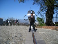 2014.04.13 London. The famous Prime Meridian in Greenwich, with my standing in the different hemispheres of the Earth