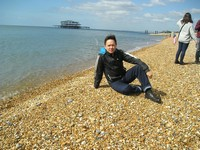 2014.04.15 Great Britain. On a cold beach of the resort city of Brighton