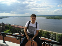 2014.06.13 View to the junction of the Oka and the Volga rivers in Nizhny Novgorod