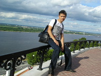 2014.06.13 View to the Volga river in Nizhny Novgorod and the aerial lift over it to Bor