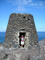 2016.05.29 As a guardian of a strange stone tower on a coast of the volcanic island of Tenerife