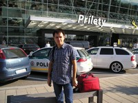 "2016.09.15 Bratislava Airport (Letisko), I have just left the ""Arrivals"" (Prilety) hall and got into the summer"