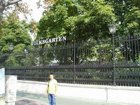 2016.09.16 Vienna, the People Garden (Volksgarten), which entrance could not be found for a long time, unlike its name