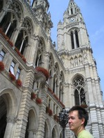 2016.09.16 You feel yourself so small near the majestic gothic building of the the Vienna City Hall (Wiener Rathaus)…