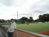 2016.09.17 It is the first time I saw field hockey in action on a stadium of the Vienna Prater (Weiner Prater) park