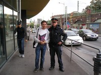 2016.09.17 As we traveled to Vienna without our children, a traditional photograph with a local policeman is not with the elder son but with me :-)