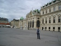 2016.09.18 Vienna, the square in front of the Upper Belvedere (Oberes Belvedere Schloss) castle that was a summer residence of Prince Eugene of Savoy