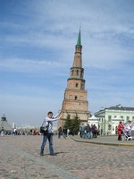 "2017.04.29 There a ""Russian Tower of Pisa"" – Söyembikä Tower in the Kazan Kremlin (Tatarstan, Russia) which I leant :-)"