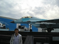 2017.07.22 In front of MiG-35 at the International Aviation and Space Salon (MAKS 2017)