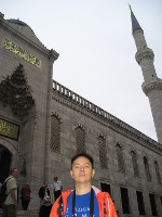 2017.09.30 In front of the entrance to the Blue Sultan Ahmet Mosque (Istanbul, Turkey)