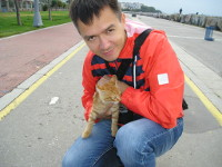2017.10.02 With one more cat of numerous Istanbul ones, this time from its Asian part (Turkey)