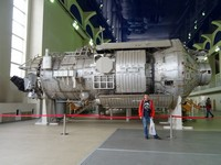 "2018.04.29 The ""Spectrum"" module of the ""Mir"" space station in one of the training halls of the Yury Gagarin's Cosmonaut Training Center in Zvezdny Gorodok (the Star Town), the Moscow region."