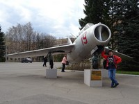 2018.04.29 Holding the MiG-15 UTI aircraft which used Yury Gararin and other first cosmonauts, I am charged with the spirit of great achievements in Zvezdny Gorodok (the Star Town), the Moscow region.