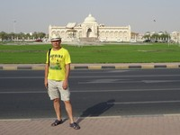 2018.06.04 At the Cultural Square of Sharjah with its famous Koran monument.