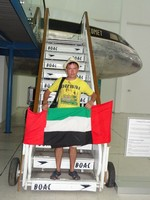 2018.06.06 On the ladder of one of the exhibits of the museum of Arab aviation in Sharjah.