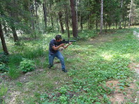 "2018.07.13 I am firing accurately at an enemy in the forest of the ""Pearl of the Golden Ring"" park hotel"