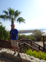2018.09.07 On the territory of one of the paid beaches of the Dead Sea (it is behind me) – the Kalia Beach