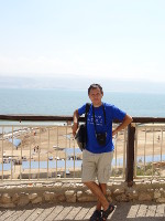 2018.09.07 Vertical view of the Dead Sea from the Kalia Beach's observation deck