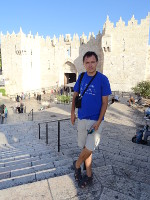 2018.09.07 In front of the most frequently visited gate of my entrance to the Old City of Jerusalem – the Damascus Gate