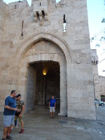 2018.09.07 In front of the most frequently visited gate of my exit from the Old City of Jerusalem – the Jaffa Gate