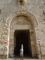 2018.09.09 The Zion Gate is another gate to the Old City of Jerusalem which connects the Jewish and Armenian Quarters with the Mount Zion