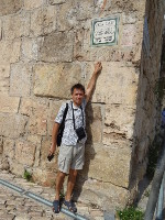 2018.09.09 Jews are skilled to make signs of historical objects (the Zion Gate in this case) so organically combined with them!.. and, as it must be, in 3 languages: English, Arabic and Hebrew