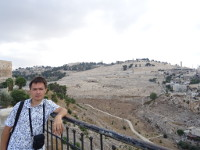 "2018.09.09 A view from the lowland of the ""City of David"" (ancient settlement of Jerusalem) to the Mount of Olives"