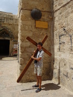 2018.09.09 Via Dolorosa of Jesus Christ in Jerusalem, Station #9: Jesus falls the third time; my cross was much lighter in weight