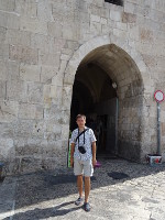 2018.09.09 Herod's Gate is another gate to the Old City of Jerusalem, namely to the Muslim Quarter